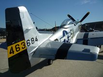 Tail View of the P51 D Mustang Royalty Free Stock Photography
