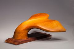 The tail of a whale carved  wood Royalty Free Stock Image