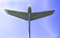 Tail Wing of Air Force C-130 Stock Photo