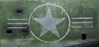 Tail of World War II Airplane royalty free stock photo