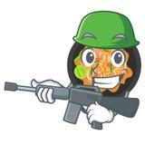 Tailandese del picchiettio dell'esercito isolato nel fumetto illustrazione di stock