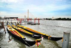 Tailandese entrambi a Bangkok Fotografia Stock Libera da Diritti