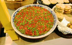 Tailandese, peperoncino rosso, pasta, alimento Fotografia Stock