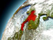 Tailandia de la órbita de Earth modelo Imágenes de archivo libres de regalías