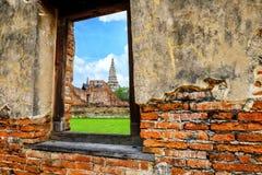 Tailandia en el parque histórico de Ayutthaya, adoración de Tailandia, brote Imagen de archivo libre de regalías