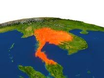 Tailandia en rojo de la órbita libre illustration