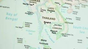Tailandia en un mapa con Defocus