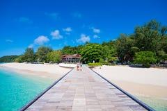 Tailandia, 16 Jyne 2017:: Playa hermosa de la isla de Mai Ton en Phuke Imágenes de archivo libres de regalías