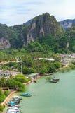 Tailandia, Krabi Centro turístico de lujo Foto de archivo libre de regalías