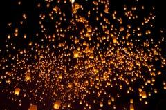 Tailandia, Loy Krathong y festival de Yi Peng Imagen de archivo