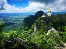 Tailandia no vista asombrosa y x22; Wat Chalerm Prakiet y x22; en Lampang imagen de archivo libre de regalías