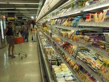 TAILANDIA - OCT 2,2015: Compras en el supermercado superior, editorialt foto de archivo libre de regalías