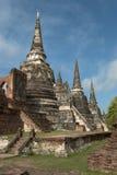 Tailandia, pagodas d'ayutthaya Image libre de droits