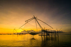 Tailandia pesquera neta Foto de archivo libre de regalías
