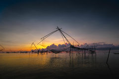 Tailandia pesquera neta Fotografía de archivo