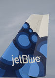 Tailfin mirtilo-inspirado A320 do projeto de JetBlue Airbus Fotos de Stock