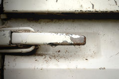 Tailgate handle lock for pickup truck. Royalty Free Stock Images