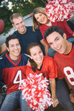 Tailgating: Group Of Friends Cheer For Their Team royalty free stock photo