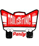 Tailgating party pickup truck graphic stock photo