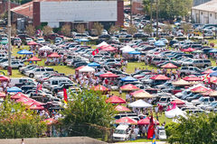 Tailgating Before Start of College Football Game Stock Photography