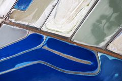 Tailing ponds. Aerial view of tailing ponds in Utah, USA stock image