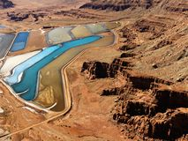 Tailings pond in rural Utah. royalty free stock images