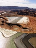 Tailings pond in rural Utah. Royalty Free Stock Photos