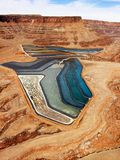 Tailings pond in rural Utah. Royalty Free Stock Image