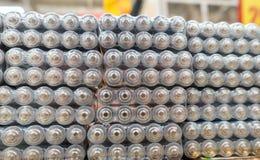Taille D.C.A. aa de piles électriques Photo libre de droits