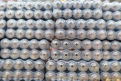 Taille D.C.A. aa de piles électriques Image stock