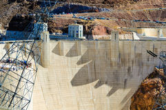 Taille de barrage de Hoover Image stock