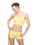 Taille de mesure de femme avec le type de mesure Images stock