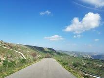 Taille du Golan, la route d'huile photo stock
