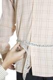 Taille réglée de mesure de chemise   Photo libre de droits