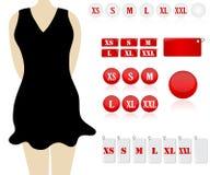 Tailles de vêtement Image stock