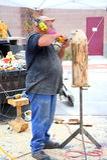 Tailleur animal en bois Photos libres de droits