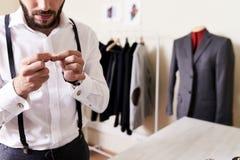 Tailleur dans l'atelier Image libre de droits