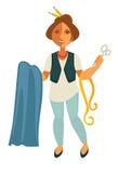 Tailleur de femme avec l'équipement