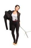 Tailleur de femme tenant dessus le mannequin Photos libres de droits