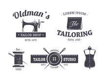 Tailleur Emblems de vintage illustration stock