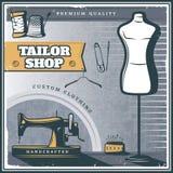 Tailleur Shop Poster de vintage Photo libre de droits