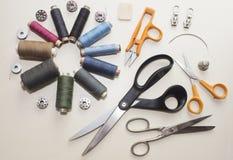 Tailleur, travaillant, concept de travail de concepteur de vêtements Photos libres de droits