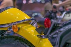 Taillight мотоцикла сигнала в событии выставки автомобиля Стоковые Изображения