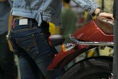 Taillight мотоцикла сигнала в событии выставки автомобиля Стоковая Фотография RF