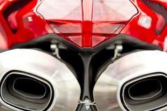 taillight шумоглушителей мотоцикла Стоковое Фото