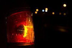 Taillight against a bokeh background Royalty Free Stock Images