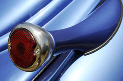 Taillight on blue automobile Stock Photo