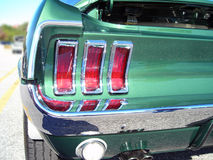Taillight do mustang de 67 Ford imagem de stock
