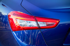 Taillight of luxury blue car Royalty Free Stock Photography