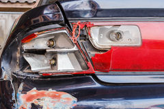 Taillights car accident. Royalty Free Stock Photo